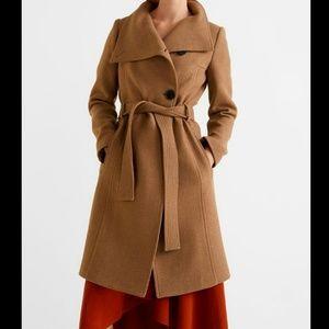 Venus grey wool winter coat